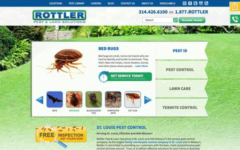 Screenshot of Home Page rottler.com - Saint Louis Pest Control And Lawn Care In St. Louis And Missouri - captured Sept. 24, 2014