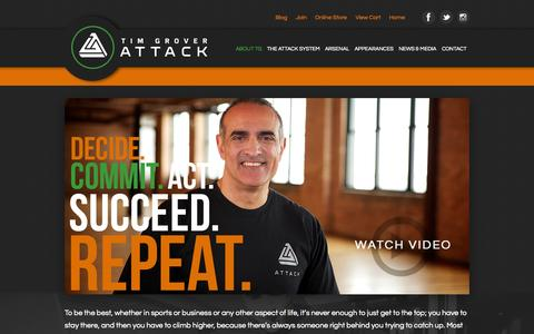 Screenshot of About Page attackathletics.com - Attack Athletics  » About TG - captured Sept. 30, 2014