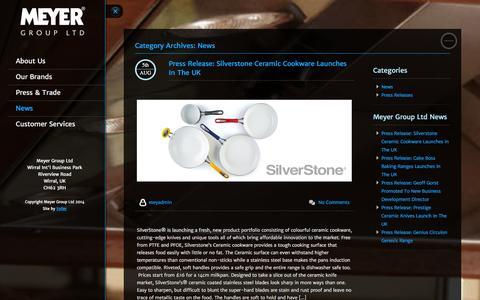 Screenshot of Press Page meyergroup.co.uk - News Archives | Meyer Group Ltd - captured Oct. 27, 2014