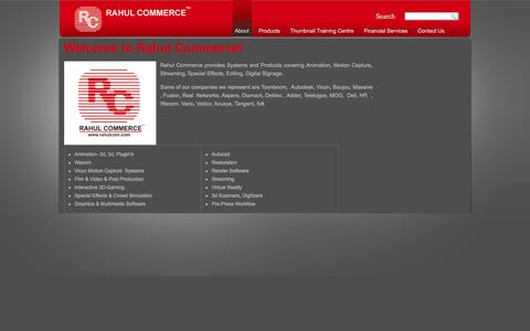 Screenshot of About Page rahulcom.com - Welcome to Rahul Commerce! | Rahul Commerce - captured Oct. 9, 2014