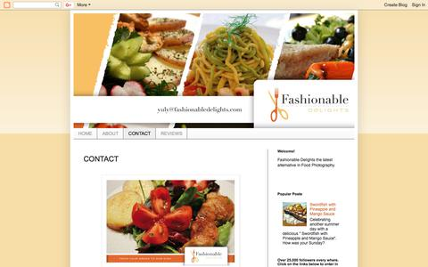 Screenshot of Contact Page fashionabledelightsbyyuly.blogspot.com - Food: Fashionable Delights: CONTACT - captured Aug. 12, 2018