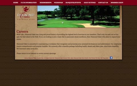 Screenshot of Jobs Page diamondoaksclub.com - Careers - Diamond Oaks Club - captured Oct. 5, 2014