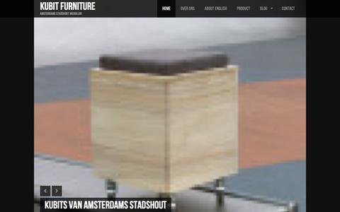Screenshot of Home Page kubitfurniture.nl - Kubit Furniture | Amsterdams Stadshout Meubilair - captured Jan. 9, 2016