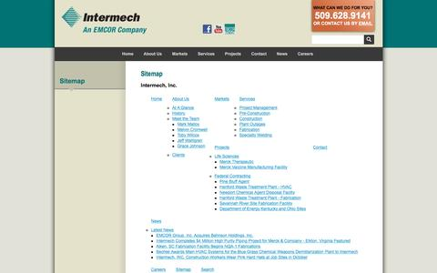Screenshot of Site Map Page intermechinc.com - Intermech, Inc. | Sitemap - captured May 27, 2017