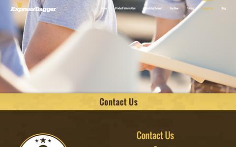 Screenshot of Contact Page expressbagger.com - Contact Us - Express Bagger - captured Feb. 1, 2016