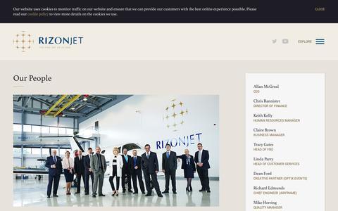 Screenshot of Team Page rizonjet.com - Our People | Rizon Jet - captured Sept. 30, 2014
