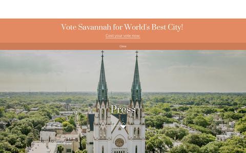 Screenshot of Press Page visitsavannah.com - Press | Visit Savannah - captured Jan. 24, 2018