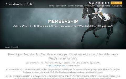 Screenshot of Signup Page australianturfclub.com.au - Membership | Australian Turf Club - captured Dec. 27, 2015
