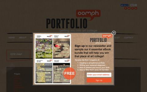 Screenshot of Site Map Page portfolio-oomph.com - Portfolio Oomph site map - captured July 14, 2016
