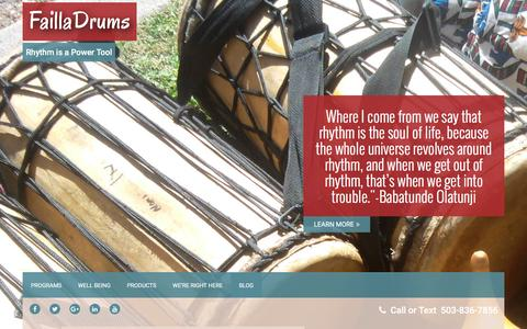 Screenshot of Blog failladrums.com - Blog | FaillaDrums - captured Aug. 3, 2016