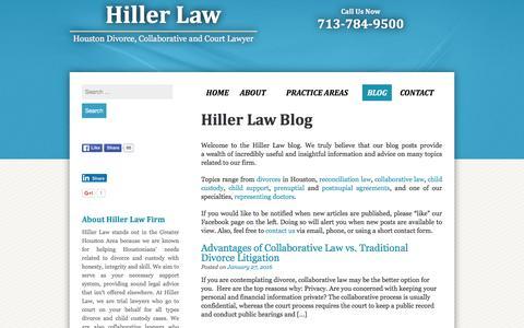 Screenshot of Blog hillerlaw.com - Hiller Law Blog - captured Jan. 29, 2016