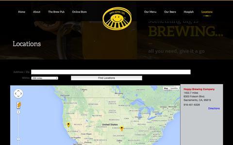 Screenshot of Locations Page hoppy.com - Locations | The Hoppy Brewing Company - captured Nov. 2, 2014