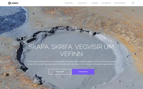 Screenshot of Home Page webdew.is - webdew – Breytir heiminum, einn vef í einu - captured Dec. 21, 2016