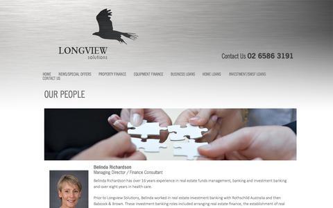 Screenshot of Team Page longviewsolutions.com.au - OUR PEOPLE | Longview Solutions - captured Sept. 30, 2014