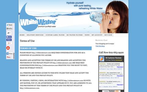 Screenshot of Terms Page whitewaternow.com - Terms of Use - captured Oct. 26, 2014