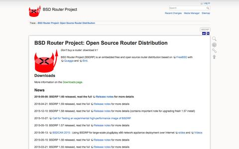 Screenshot of Home Page bsdrp.net - BSD Router Project: Open Source Router Distribution [BSD Router Project] - captured Nov. 21, 2016