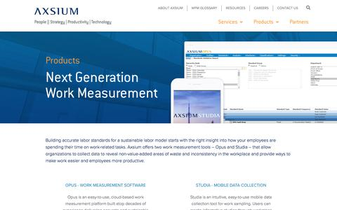 Screenshot of Products Page axsiumgroup.com - Products    Axsium Group - captured Nov. 1, 2019