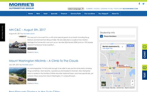 Screenshot of Blog morries.com - Morrie's Automotive Group Blog | New and Pre-Owned Car Dealer - captured Sept. 22, 2017