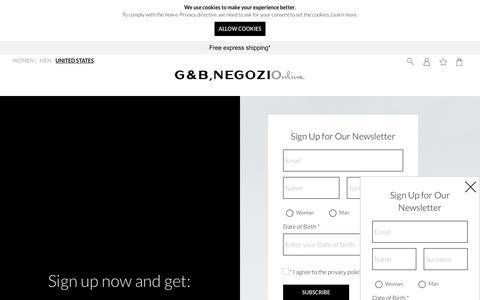 Screenshot of Signup Page gebnegozionline.com - Newsletter - captured Sept. 27, 2018