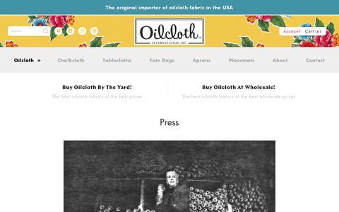 Screenshot of Press Page oilcloth.com - Press – Oilcloth International, Inc. - captured Oct. 19, 2018