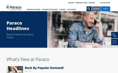 Screenshot of Press Page paracogas.com - News | paracogas - captured Sept. 26, 2018