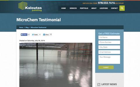 Screenshot of Developers Page kaloutas.com - MicroChem Testimonial |  Kaloutas Painting - captured Nov. 12, 2016