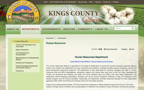 Screenshot of Jobs Page countyofkings.com - Human Resources | Kings County - captured July 4, 2018