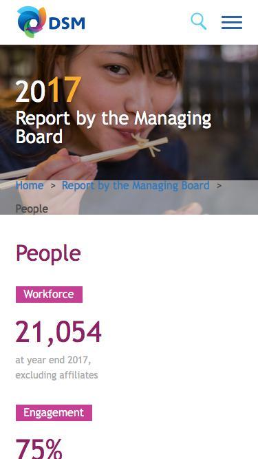 Screenshot of Team Page  dsm.com - DSM Annual Report 2017