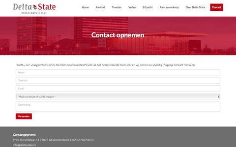 Screenshot of Contact Page deltastate.nl - Contact opnemen - captured Oct. 12, 2017