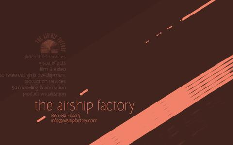 Screenshot of Home Page airshipfactory.com - the airship factory - captured Oct. 6, 2014