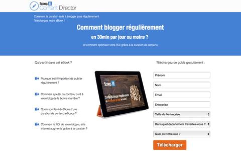 Screenshot of Landing Page scoop.it - Comment blogger régulièrement en 30min par jour ou moins ? - captured June 1, 2016