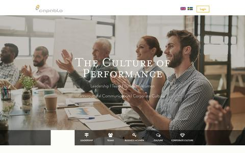 Screenshot of Contact Page Team Page capablo.se - The Culture of Performance - captured Dec. 14, 2018