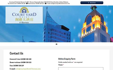 Screenshot of Contact Page courtyardhotel1borneo.com - Contact Us - captured May 22, 2017