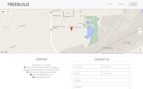 Screenshot of Contact Page treebuild.com - Treebuild   3D Printing Customizable Marketplace - captured Feb. 24, 2016