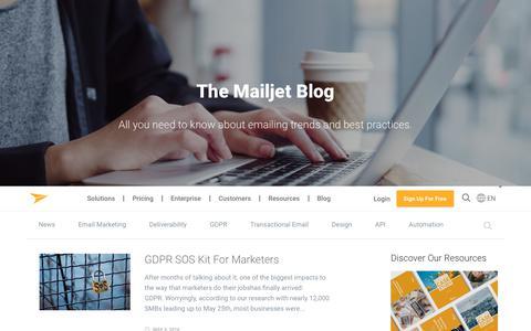 Screenshot of Blog mailjet.com - Email Marketing Blog - captured June 2, 2018