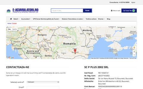 Screenshot of Contact Page e-acumulatori.ro - Contact - captured June 22, 2017