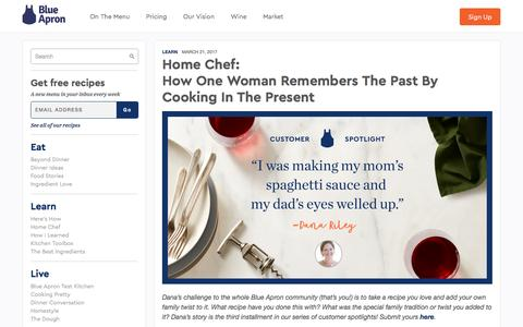 Screenshot of blueapron.com - How One Woman Remembers The Past By Cooking In The Present | Blue Apron Blog - captured March 22, 2017