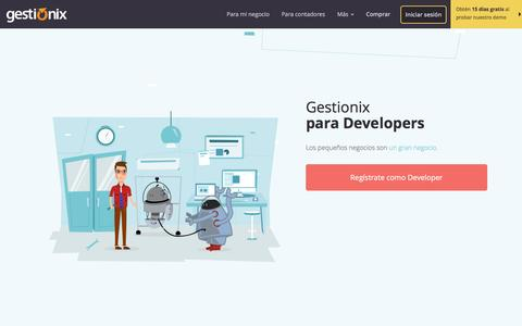 Screenshot of Developers Page gestionix.com - Developers - captured May 17, 2017