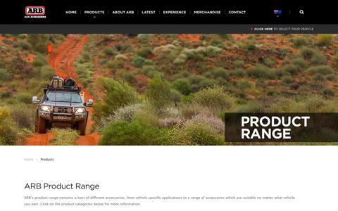 Screenshot of Products Page arb.com.au - ARB 4×4 Accessories | Four Wheel Drive Products - ARB 4x4 Accessories - captured June 29, 2017