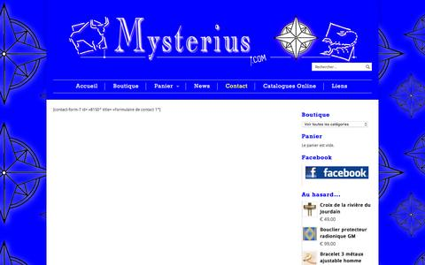 Screenshot of Contact Page mysterius.com - Contact | Mysterius - captured June 2, 2016