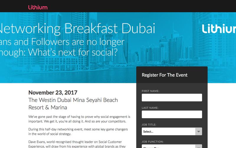 Networking Breakfast Dubai Fans and Followers are no longer enough: what's next for social?