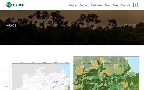 Screenshot of Maps & Directions Page imazon.org.br - Maps - Imazon - captured Dec. 8, 2018