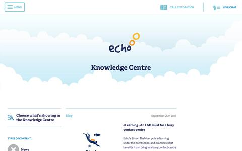 Screenshot of Blog echo-ms.com - Echo Managed Services: Knowledge Centre | Echo Managed Services - captured Oct. 21, 2016