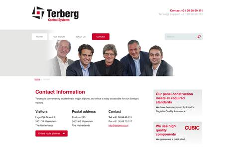 Screenshot of Contact Page terberg-control-systems.nl - Contact | Terberg Control Systems - captured Nov. 15, 2018