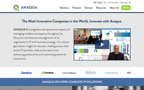 Anaqua | Intellectual Asset Management software and related services.