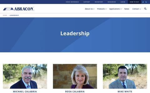Screenshot of Team Page abracon.com - Abracon - Leadership & Executive Team - captured July 28, 2018