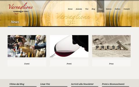 Screenshot of Press Page vigneevini.eu - NewsNewsVigne e Vini nel cuore di Puglia, alle porte del Salento! Apulia wines - captured Oct. 26, 2014