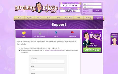 Screenshot of Trial Page butlersbingo.com - Butlers Bingo - captured Nov. 15, 2016