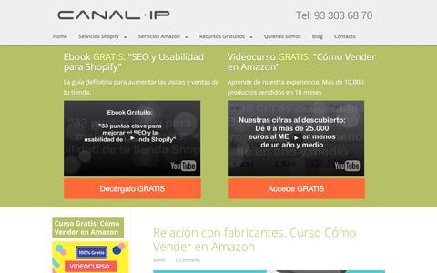 Screenshot of Blog canalip.com - Blog Marketing Online | Ecommerce Shopify | Cómo vender en Amazon | Canal IP Blog - captured May 14, 2017