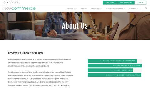 Screenshot of About Page nowcommerce.com - About Us - Now Commerce - captured July 27, 2018